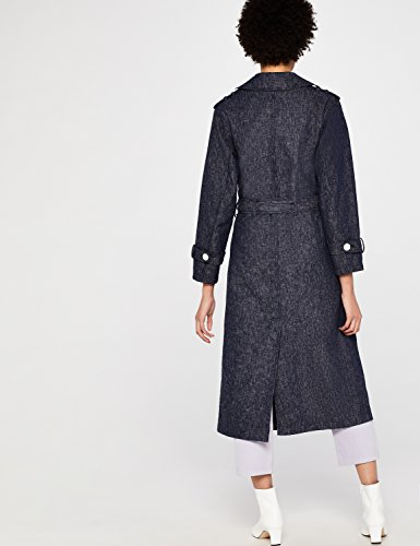 FIND en Trench Femme Coat Bleu Navy Denim qTqwrdHE