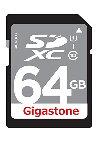 Gigastone 64GB Class 10 UHS-1 U1 Prime SD XC Memory Card Up to 45MB/s [Compatible with Canon EOS Rebel T5 T5i T6 T6i 80D 6D SL1 Nikon D3300 D5500 D5600 D7200 D750 Sony Pentax Kodak Olympus Panasonic]