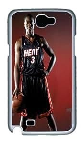 Dwyane Wade Samsung Galaxy Note 2 N7100 Case, Unique Designer Dwyane Wade Hard Case Covers For sumsung Samsung Galaxy Note 2 N7100