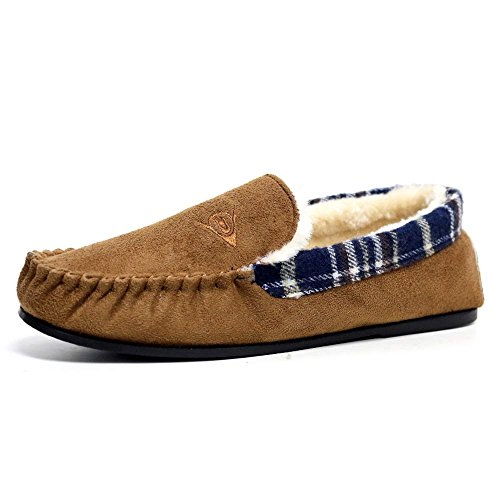 6b39a94dc6b Mens Famous Dunlop GEORGE Moccasin Loafers Faux Sheepskin Fur Slippers with Rubber  Sole - Buy Online in UAE.
