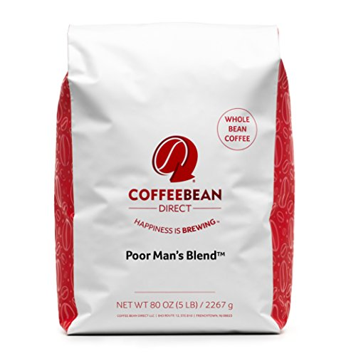 Coffee Bean Direct In need Man's Blend Coffee, Medium Roast, Whole Bean, 5 Pound
