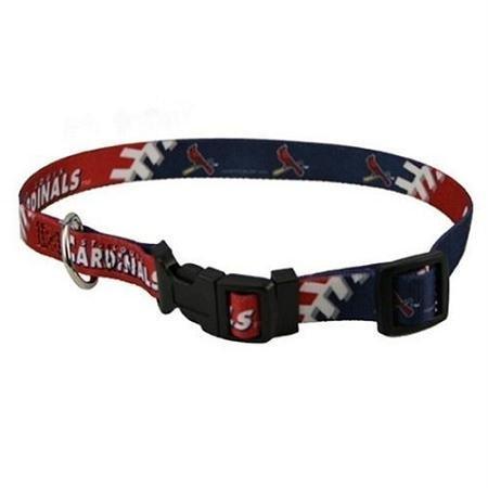 Hunter Mfg DN-310551-M St. Louis Cardinals Dog Collar - Medium