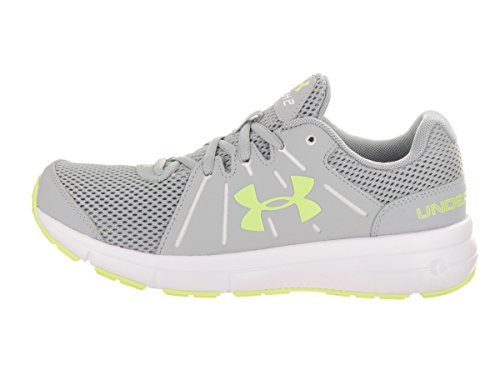 Under Armour Vrouwen Dash 2 Bewolking Grijs / Wit / Lime Fizz