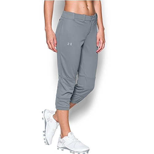 Under Armour Women's Strike Zone Pant, Steel/Overcast Gray, Small