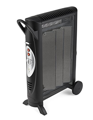 Bionaire Silent Micathermic Console Heater for Large Spaces, Black Ceramic Heaters