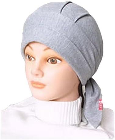 akko バンダナ帽 スカッシュタイプ 黒系統 グレイ