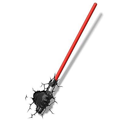 3DLightFX Star Wars Darth Vader Hand with Lightsaber 3D Deco Light