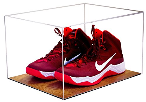 Deluxe Acrylic Clear Basketball Shoe Display Case with Wood Floor (A025)