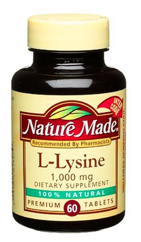 Nature Made L-Lysine 1000mg, 60 Count (Pack of 4)