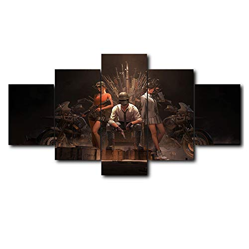 lzmlzm 5 Canvas Paintings Hot Game Poster Jedi Survival Battle 5 Piece Canvas Painting Poster Print for Living Room Home Decoration Pictures