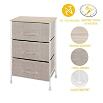 iTIDY Drawer Chest-3 Drawer Storage Chest,Dresser,Drawer Organizer Unit,NO Tool Required to Assemble