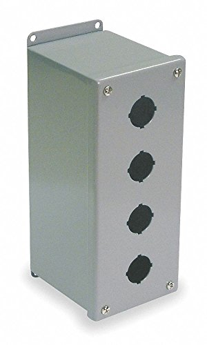 Pushbutton Enclosure, 22mm, 4 Holes, Steel by Wiegmann (Image #1)