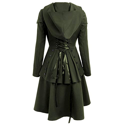 Dobladillo Morado Negro Halloween Bajo Capucha Encaje Para Mujer Elegante Abrigo Large De Con wqTcA8B