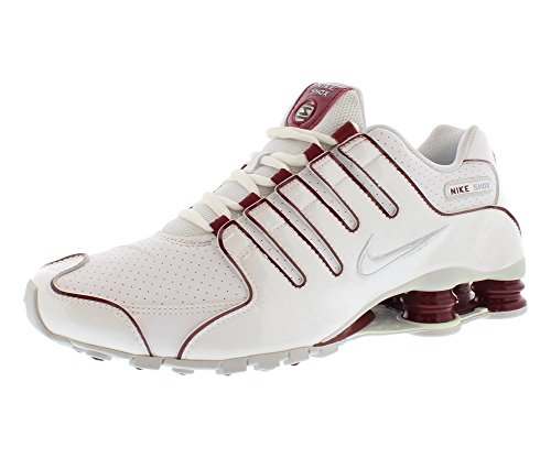 huge discount 04bce ecfba Nike Mens Shox NZ Running Shoes White   Team Red   Platinum 378341-145 Size  8.5 - Buy Online in UAE.   Apparel Products in the UAE - See Prices, ...