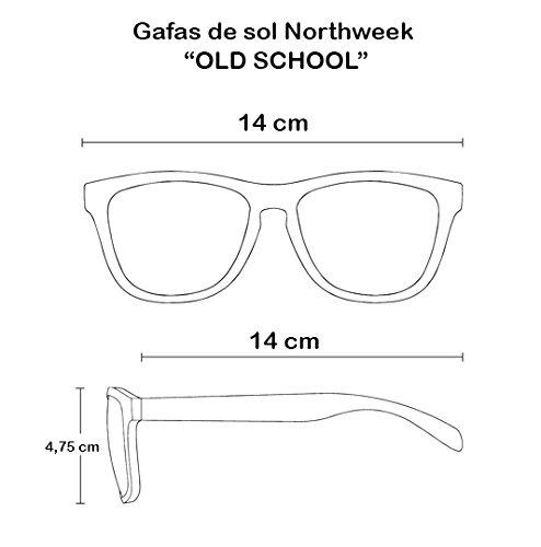 Gafas de sol Sunglasses Northweek Old School matte black   lente azul polarizada   unisex: Amazon.es: Ropa y accesorios