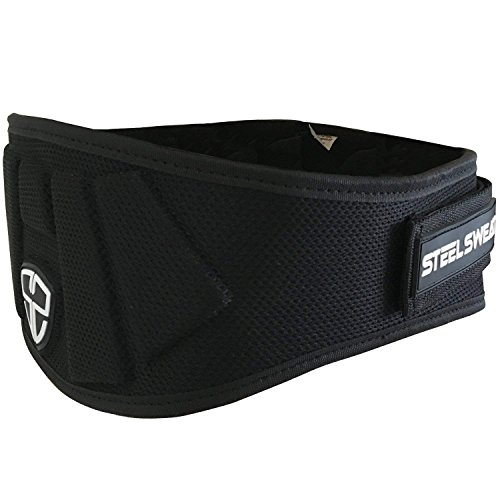Cheap Steel Sweat Weight Lifting Belt – Nylon 6-inch Firm & Comfortable Back Support, Best for Workouts at The Gym, Weightlifting or Crossfit. Easily Adjustable MAXE Black Medium