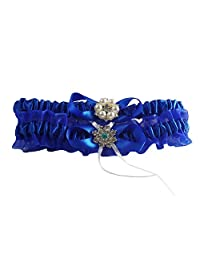 Royal Blue Bridal Wedding Garter Set