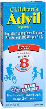 Advil Children's Suspension Blue Raspberry Flavored - 4 oz, Pack of 2