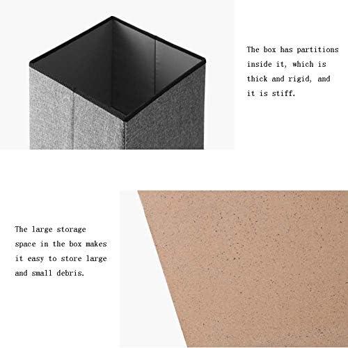 Pliante Pouf De Rangement, Faux PU Cube Repose-Pied Tabouret, Coffre De Rangement avec Remplissage Très Élastique Éponge, Linge Carrée Multifonction Tabouret