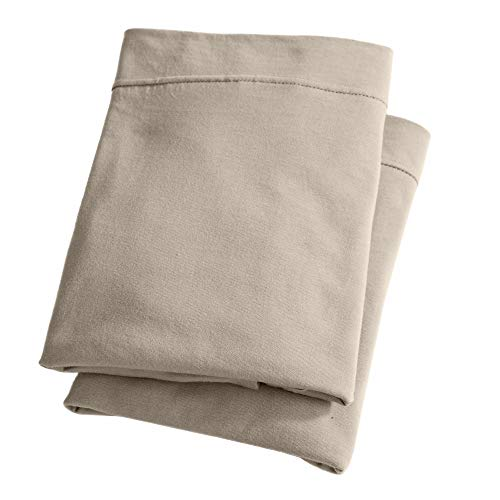 Great Bay Home Extra Soft Modal Jersey Knit Pillowcase Set. Soft, Comfortable, Cozy All-Season Pillowcases (King, Taupe) ()