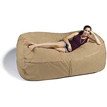 Amazon Com Jaxx Giant Bean Bag Lounger 7 Foot Camel
