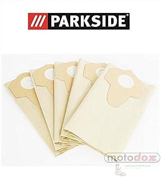 5 bolsas de aspiradora 30 litros partículas marrón Parkside Lidl ...