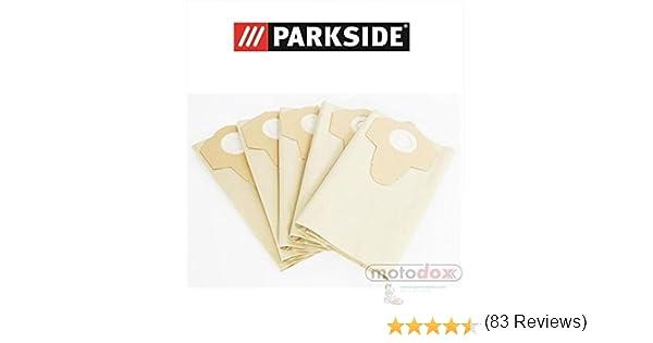 5 bolsas de aspiradora/bolsa para el polvo Parkside Lidl mojado ...