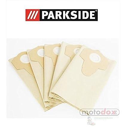 5 bolsas de aspiradora 30 litros partículas marrón Parkside Lidl pnts 1500 A1 B2 B3 23E