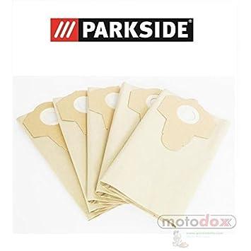 5 bolsas de aspiradora 30 litros partículas marrón Parkside ...