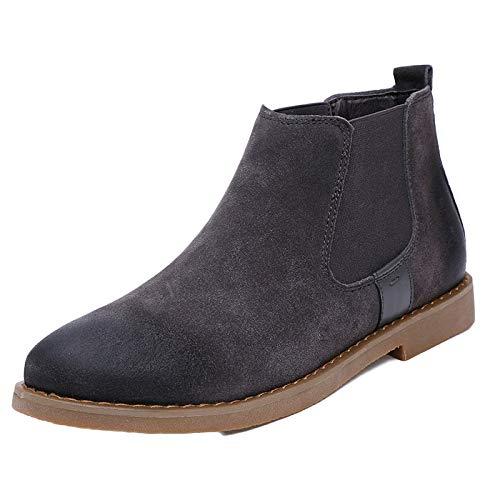 di Pelle Grey Boots Pelle Stivaletti Stivali Uomo Inverno Sicurezza Brogue E Stivali Stivali Chelsea Martin Nero Classico Formale Stivali Autunno XTCxwqEX