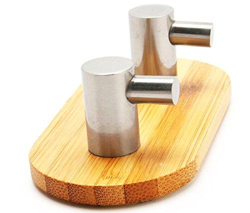coolifun oak leaf heavy duty wood stainless steel decorative stick wall hooks adhesive hooks. Black Bedroom Furniture Sets. Home Design Ideas