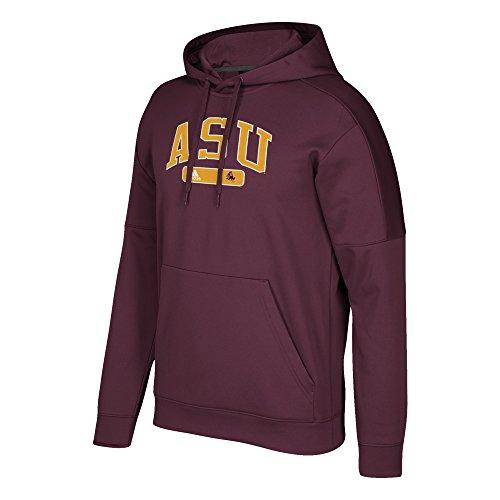 adidas NCAA Arizona State Sun Devils Mens Arched Heat Team Issue Fleece Pullover Hoodarched Heat Team Issue Fleece Pullover Hood, Maroon, Large