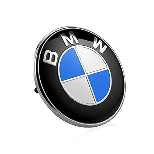 (choolo 82mm BMW 2 pin Emblem Logo Replacement for Hood/Trunk for All Models BMW E30 E36 E46 E34 E39 E60 E65 E38 X3 X5 X6 3 4 5 6 7 8 (1pc))