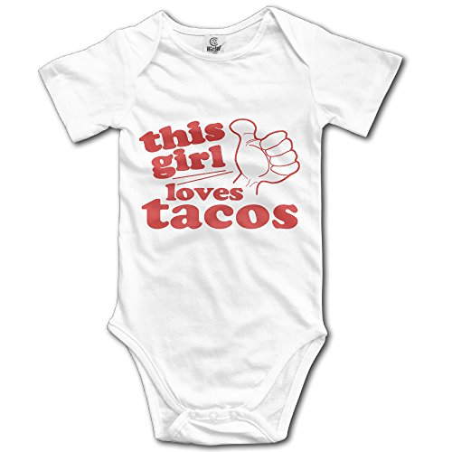 Price comparison product image This Girl Loves Tacos Short Sleeve Bodysuits For Baby Unisex