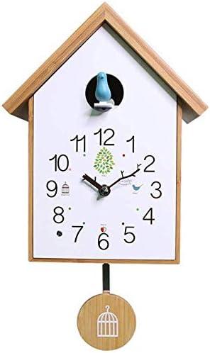 Hangess Reloj De Cuco Blanco Para Salón Salón Salón Salón Moderno Decorativo Reloj De Pared Con Péndulo Amazon Es Hogar