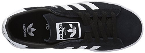 adidas Youth Campus Suede Trainers Core Black Footwear White