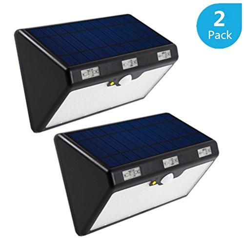 Solar Power PIR Motion Sensor Wall Light Waterproof Warm light Lamp - 8