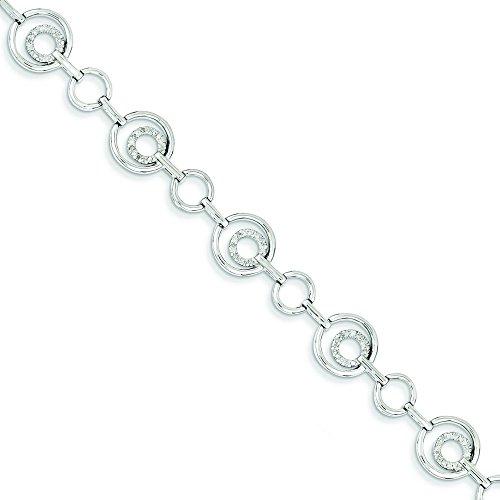 Argent Sterling diamant JewelryWeb Bracelet Motif cercles