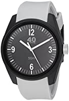 40Nine Men's 'Basic' Quartz Plastic and Silicone Casual Watch, Color:Grey (Model: 40N2.5M)