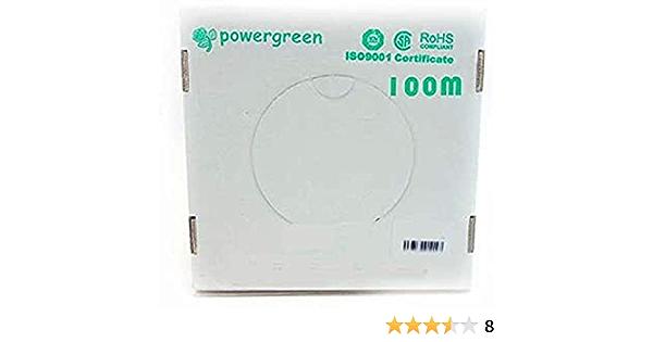Powergreen CAB-06100-BEX Bobina de Cable Cat 6 Utp 100 Metros para Exterior Color Blanco