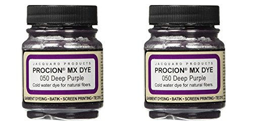 Deco Art Jacquard Procion Mx Dye, 2/3-Ounce, Deep Purple (2 Pack) by DecoArt