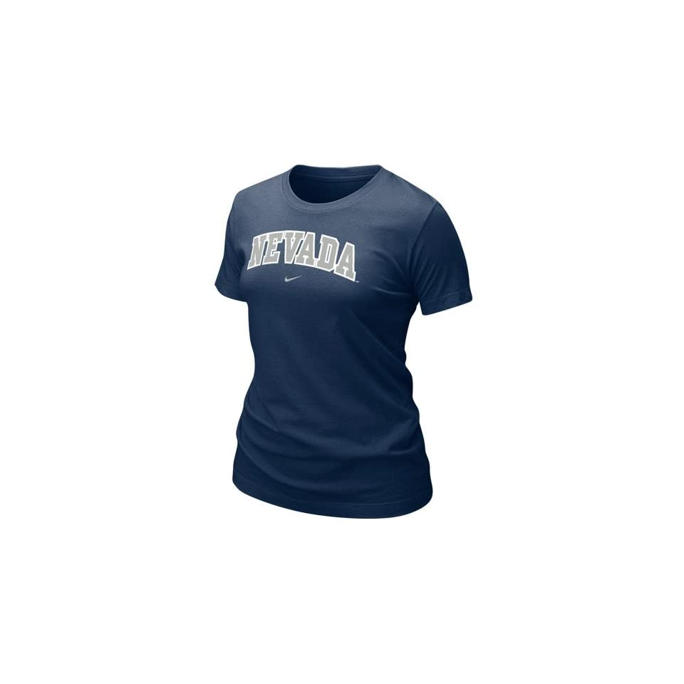 Nike Nevada Wolf Pack Ladies Navy Blue Arch T shirt