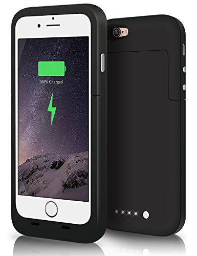 3800mah External Battery Case iPhone 6/ iPhone 6s (Black) - 6
