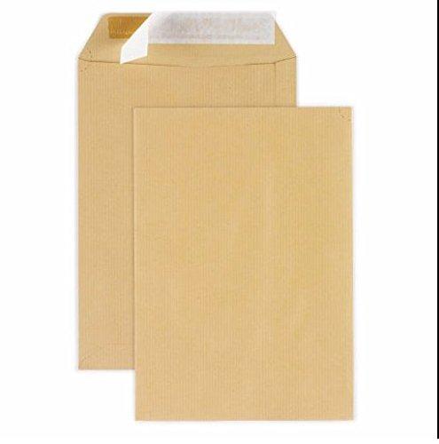 Univers Graphique UGENVC4M Busta commerciale grande in carta kraft formato C4 per documenti A4 229 x 324 mm,/peso 90 g confezione da 25 con chiusura adesiva siliconata colore: marrone scuro
