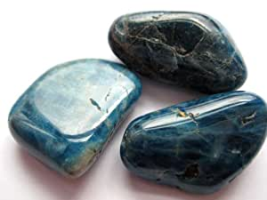 1 unidades de tambor piedra Apatito azul 2,5-3cm