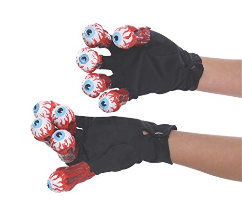 [Rubie's Costume Men's Beetlejuice Adult Gloves with Eyeballs, Multi, One Size] (Beetlejuice Costume Mens)