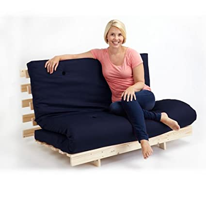 Groovy Changing Sofas Complete Triple 3 Seater Futon Sofabed Navy Blue Cotton Theyellowbook Wood Chair Design Ideas Theyellowbookinfo