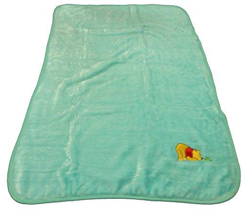 (Disney Winnie the Pooh Decorative Baby Blanket Throw - Mint w/ Inch Worm)