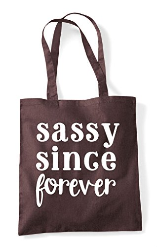 Shopper Brown Since Forever Statement Sassy Tote Bag AY88Xw