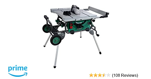 Hitachi C10rj 10 15 Amp Jobsite Table Saw With 35 Rip Capacity And